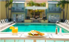 The Lafayette Hotel - The Lafayette Hotel, Swim Club & Bungalows Dining from Poolside Room