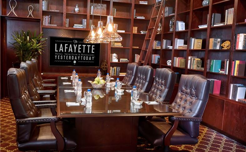 Library at The Lafayette Hotel, Swim Club & Bungalows