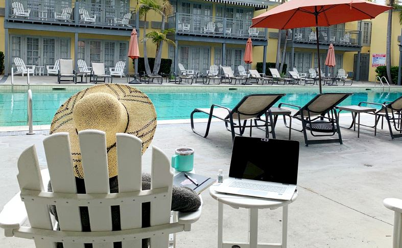 Poolside Office with a View